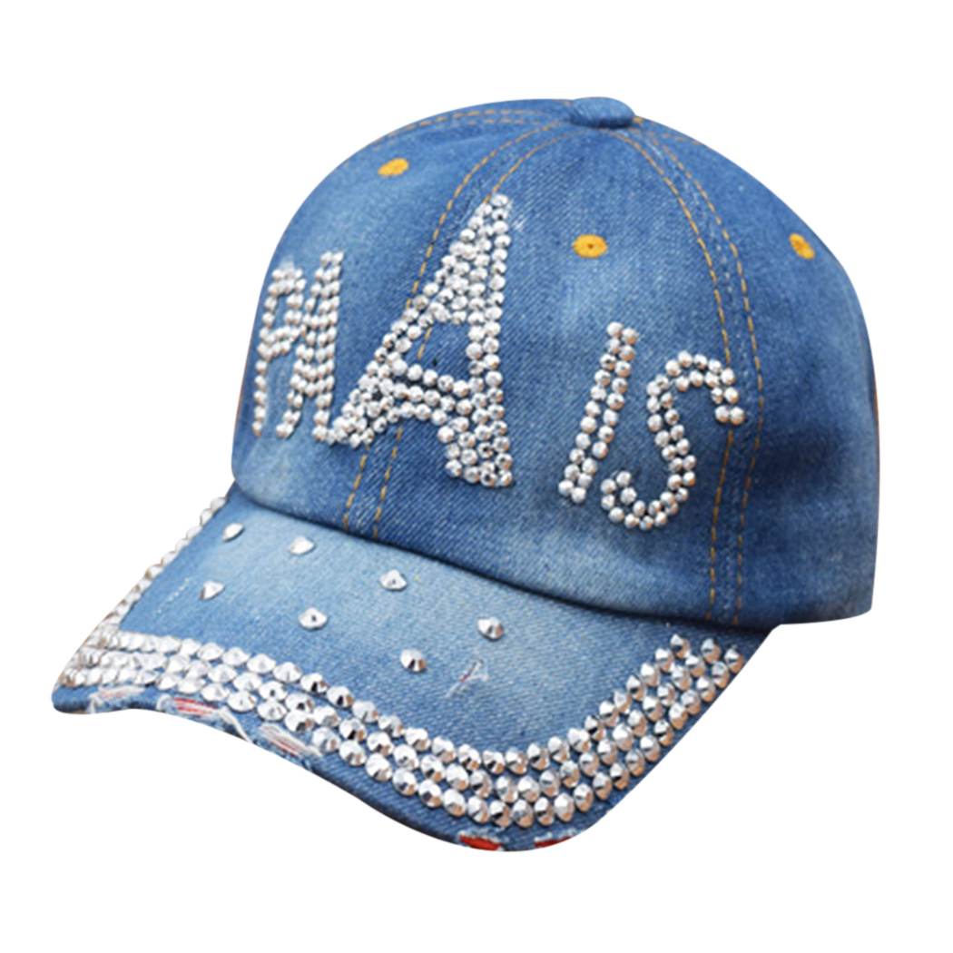 10 Style Cool Rhinestone Baseball Cap Women Crystal Bling Denim Hats Fashion Adjustable Snapback Hip Hop Hat Brand Female Gorras mnkncl new fashion style neymar cap brasil baseball cap hip hop cap snapback adjustable hat hip hop hats men women caps