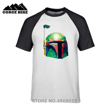 Funny Anime Men T-shirt Star Wars Prismatic Bounty Fett Hot