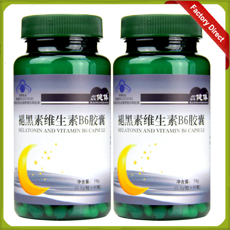 0.3g*60 pcs/ bottle melatonin manufacturer melatonin sleeping pills bottle packing 1 bottle melatonin softgel melatonin soft capsule improve health anti aging protect prostate improving sleep