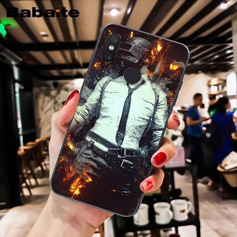 Babaite Playerunknown Ini Medan Pertempuran PUBG Phone Case untuk Xiaomi MiA1 A2 Lite F1 Redmi8 6A 4X 5Plus S2 Note7 8Pro 5A 7A