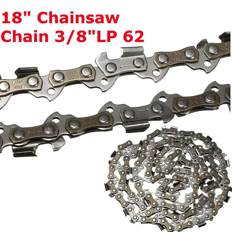 18 Replacement Chainsaw Saw Chain 3/8LP .050 Gauge 62DL Drive Link Accessory for Garden Saw Chain Chainsaw Parts 45cc 52cc 58cc chainsaw clutch replacement for poulan 4500 5200 5800 chain saw parts accessory