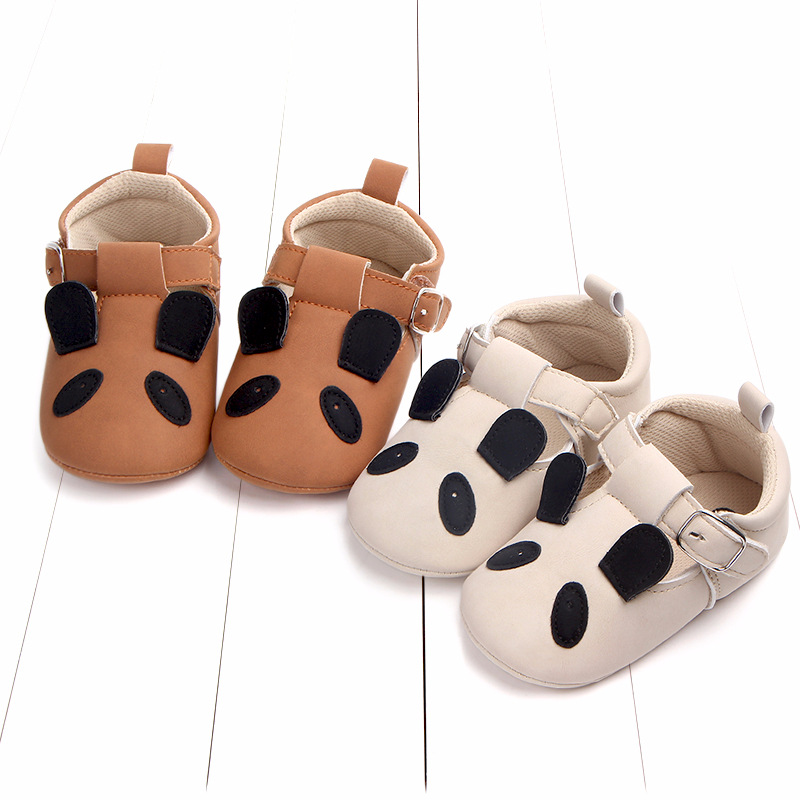 Baby First Walkers Matte leather Shoes for Baby Girl Boy Cartoon Animal Newborn Slippers Footwear Booties Kids Gift Child Shoes (36)