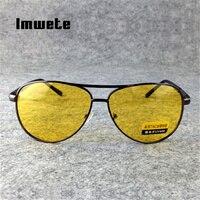 Imwete Nachtsicht Fahren Gläser Polarisierte Sonnenbrille Männer Frauen Brille Fahrer Gelb Sonnenbrille UV400