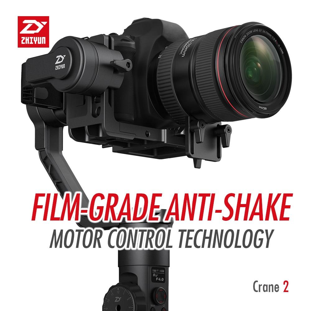 ZHIYUN Crane 2 3-Axis Handheld Gimbal Video Stabilizer with Servo Follow Focus for Canon 5D2 5D3 5D4 GH3 GH4 Sony DSLR Camera 2