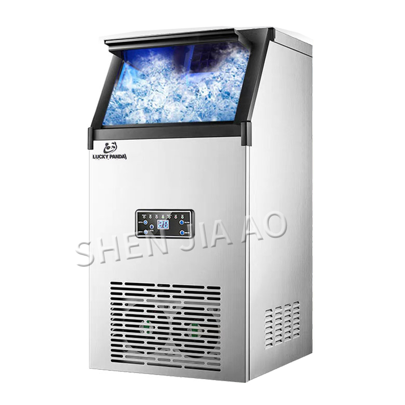 70KG/days 110 220V Ice machine commercial ICE MAKER small tea shop/bar/large capacity household/automatic ice making machine 1pc