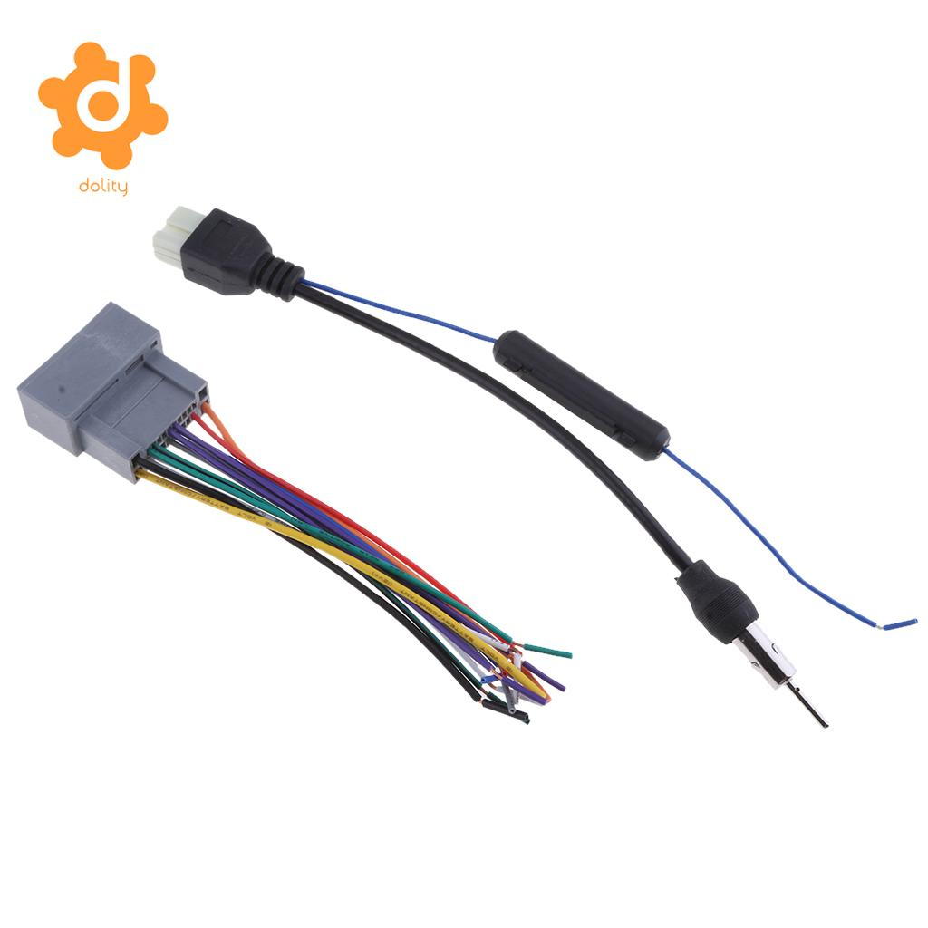 small resolution of dolity audio car stereo wiring harness radio antenna for honda accord acura city