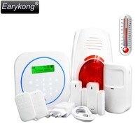433 MHz Bezprzewodowy System Alarmowy GSM, dotykowy Klawiatura, alarm temperatury, Knock Alarm, Dwukierunkowy Drzwiowy, Anti-fałszywy Alarm,