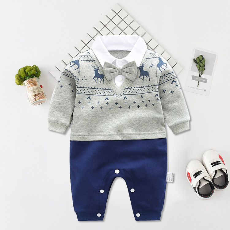 baby romper bebe Newborn Jumpsuit Long Sleeve Cotton Pajamas 0-12 Months Rompers Baby Clothes