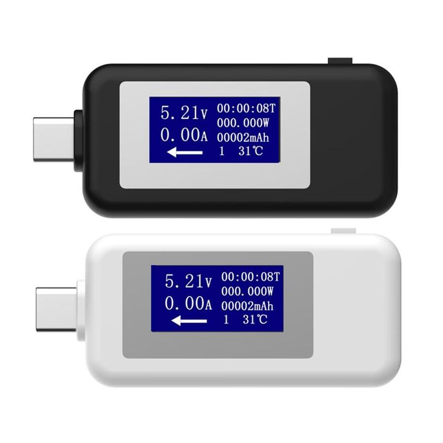 USB Type C USB Testeur LCD Numérique de la Tension Actuelle Mètre Voltmètre Amp Volt Ampèremètre Détecteur de Puissance Banque Chargeur Indicateur 20% off