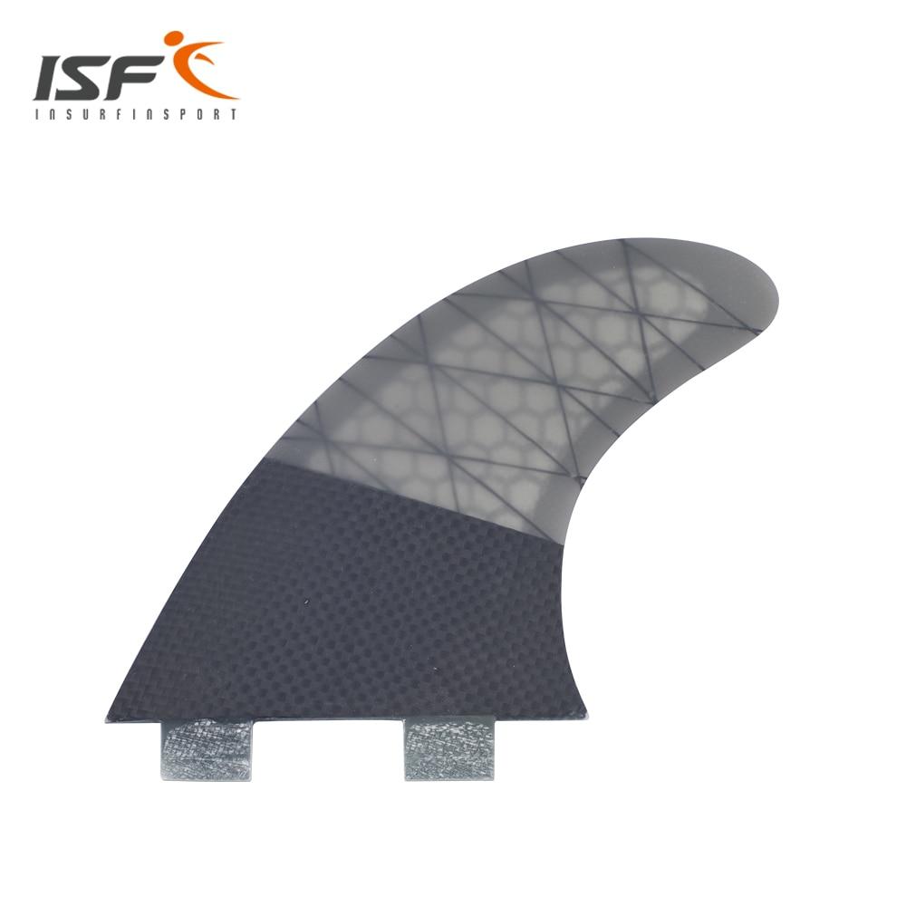 Insurfin Planche De Surf Ailettes Propulseur tri fin Set (3) Compatible FCS Carbone Nid D'abeille Grand Surfer Nageoire M7