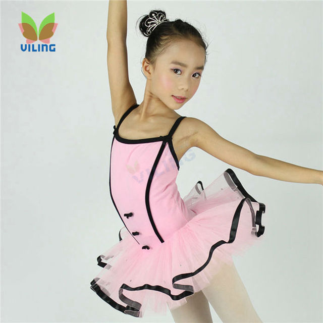 7e91147dbfc4 pink tulle kids Dancewear child dancing wear girls simple little ...