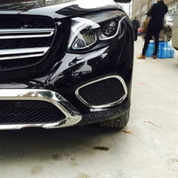 Yimaautotrims Chrome Front Bumper Fog Lights Lamp Cover Trim Fit For Mercedes Benz GLC X253 2016 2018 ABS / Chromium Styling