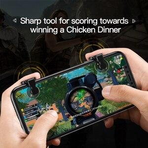 Image 3 - Baseus для Pubg игровой геймпад L1 R1 геймпад триггер для iPhone XR Xs Max Aim Fire кнопка для 4,0 6,5 дюймов Мобильный телефон Аксессуары