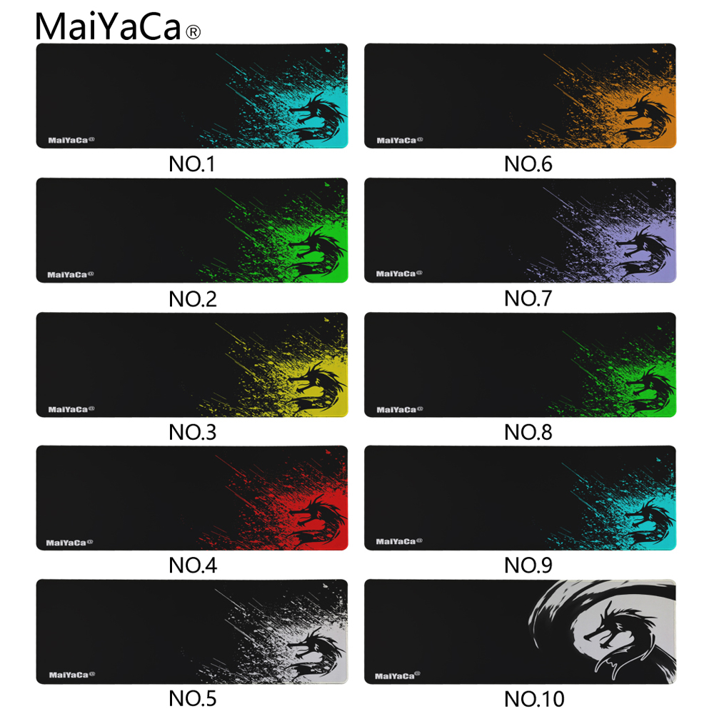 MaiYaCa Large Gaming Mousepad Size 40x90cm Locking Edge Mouse Mat Speed/Control Version For Dota Cs Go Mousepad 10 Color Styles