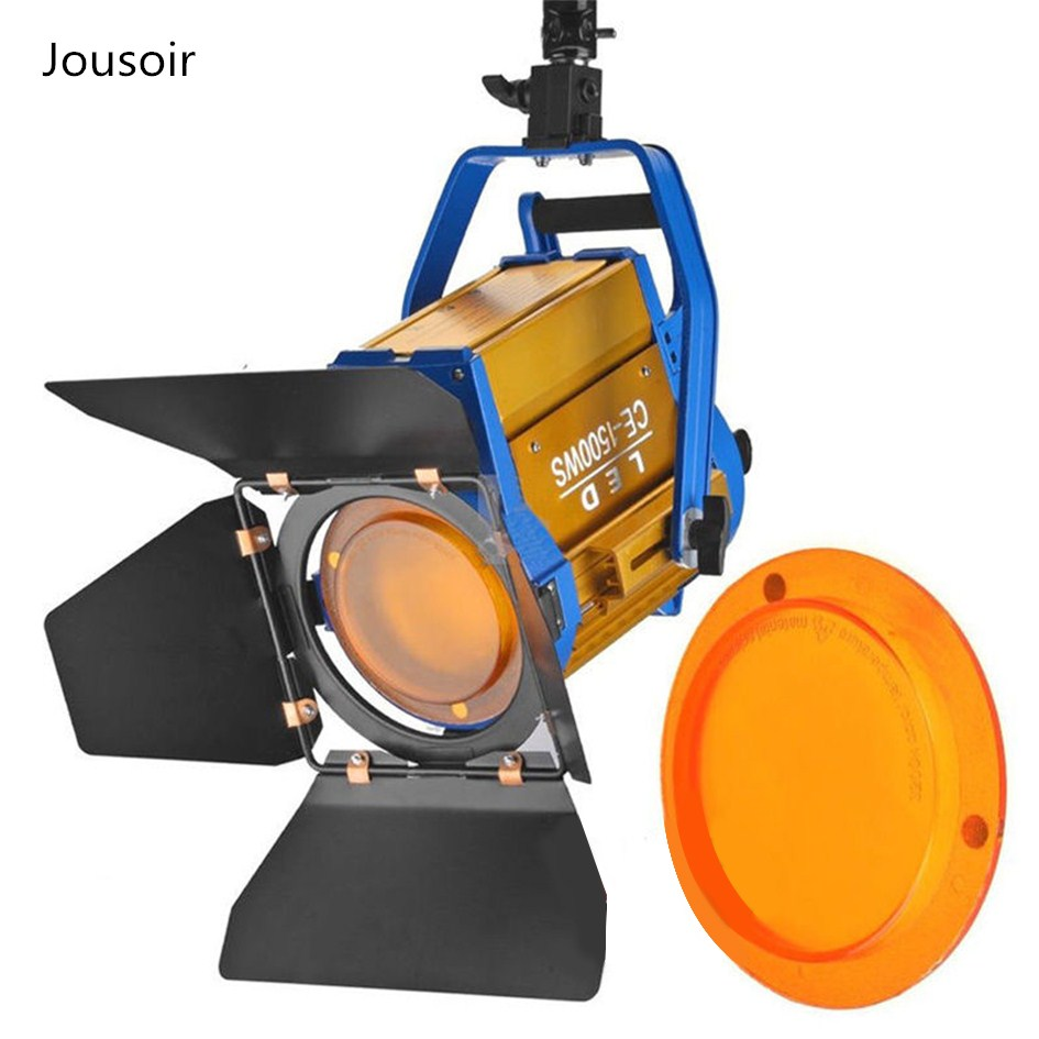 Bi color 150W LED Fresnel Spotlight with Wireless Remote For Video Studio Camera Lighting equipment CD50