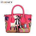 DUSUN Personalized Leisure Handbag Pu Leather Messenger Bag Women Bags Shoulder Bag Fashion Dumplings Package Cartoon Bag