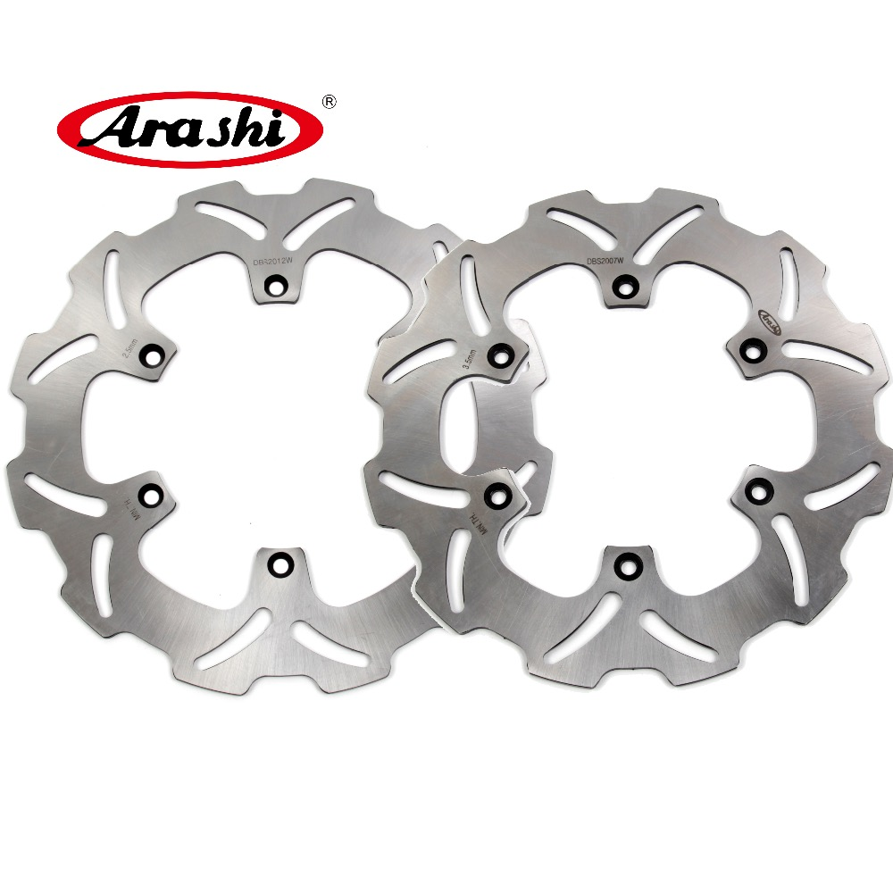ARASHI For YAMAHA YZ 450F WR450F CNC Front Rear Brake Rotors Brake Disc YZ450F WR450F 2003-2015 2004 2005 2006 2007 2008 2009 full set 3pcs motorcycle new black gold 320mm 220mm front rear brake discs rotors rotor for yamaha yzf r1 2004 2005 2006 04 06