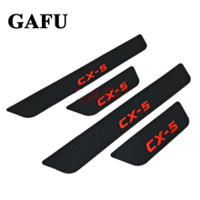 Fit For Mazda CX-5 CX 5 CX5 Door Sill Scuff Plate Guards Door Sills Strip Protector Stickers Car Accessories Sticker 2017 2018 fit for mazda cx 5 cx5 2017 2018 stainless steel car body scuff strip side door molding streamer cover trim car accessories 4pcs
