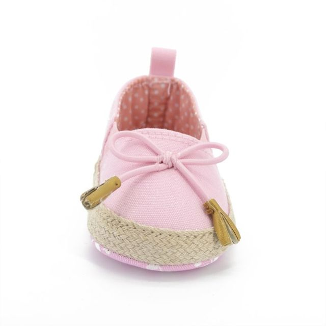 New Kids Baby Girls Soft Soled Bowknot Crib Shoes Toddler Canvas Prewalker 0-18M