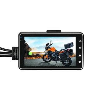 Image 1 - KY MT18 オートバイカメラ DVR モーターダッシュカム特別なデュアルトラックフロントリアレコーダーバイクエレクトロニクス