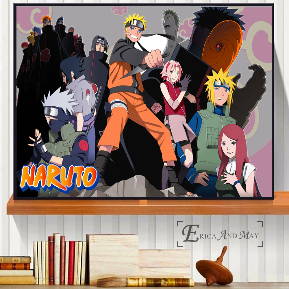 Naruto Characters Anime Artwork On Sale Poster Wall Painting Living Room Abstract Canvas Art Pictures For Home Decor No Frame