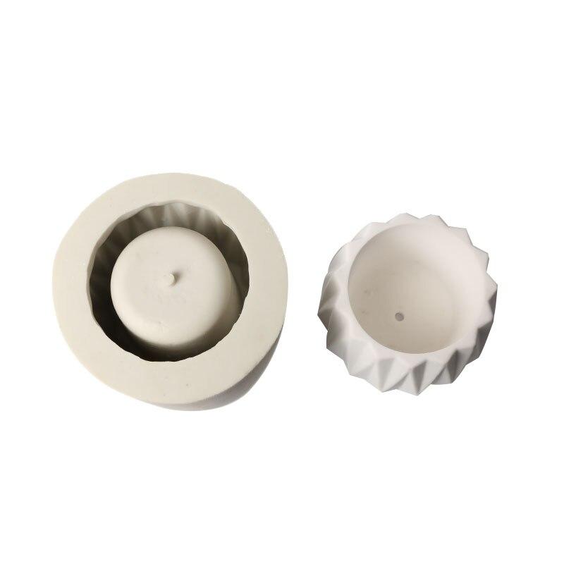 Moule de Silicone de pot de fleur 3D fait à la main pour les plantes succulentes plaque de ciment maison gâteaux décoration outils de cuisson