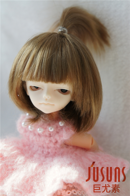 1/12  Synthetic mohair BJD wig   4-5inch doll wig Tiny size doll accessories