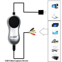 Ezcap USB 2.0 HD Video Capture TV DVD VHS DVR Adapter Recorder Converter Analog Video Audio to Digital for Windows 10 8.1 7
