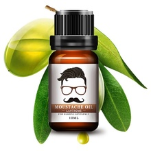 100 Natural Men Beard Oil for Styling Beeswax Moisturizing Smoothing Gentlemen Beard Care Conditioner 10ml