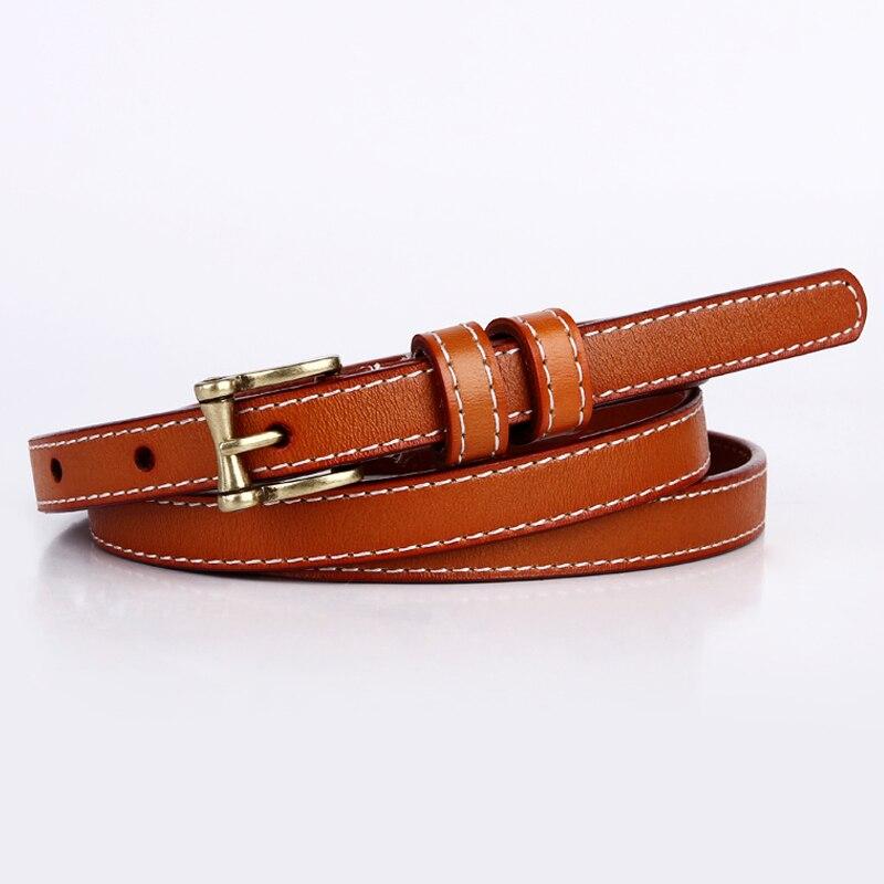 Badinka 2018 New Designer Black White Red Skinny Thin Belt Ladies Adjustable Genuine Leather Belts for Women Dress Waistband