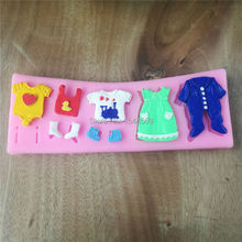 DIY silicone molds for cake decorating fondant mold soap Baby clothes sugar chocolate mould bakeware kitchen