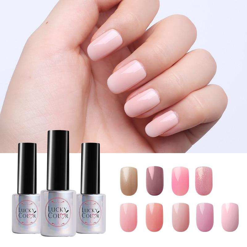 Esmalte en gel rosa desnudo para barniz de uñas UV Art Soak Off Gel Lacquer 10ml Botella de alta calidad 9 colores disponibles