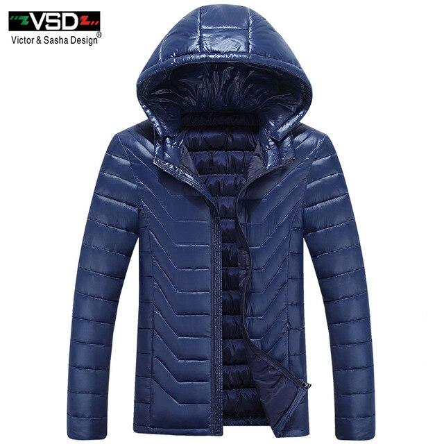 VSD Новинка 2017 с хлопковой подкладкой Костюмы Повседневное Для Мужчин's Куртки Высокое качество модные осень-зима тонкий Верхняя одежда, куртки парка V815
