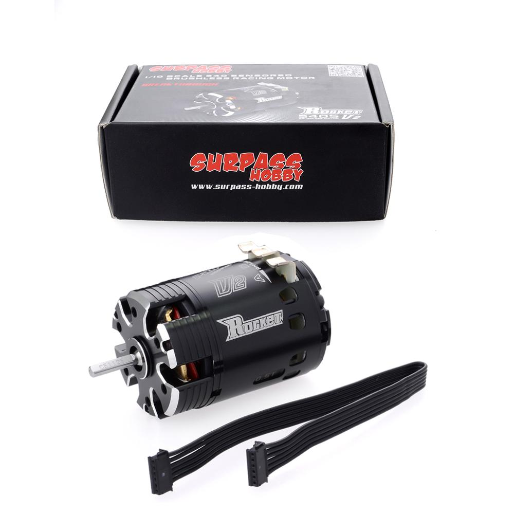 Image 5 - SURPASSHOBBY Rocket 540 V2 4.5T 5.5T 6.5T 7.5T 8.5T 9.5T Sensored Brushless Motor for Modified Competition 1/10 1/12 F1 RC Car-in Parts & Accessories from Toys & Hobbies