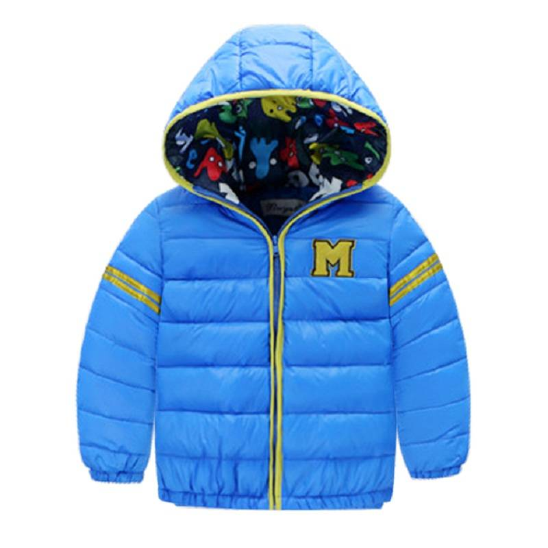 Kızlar için çocuk Parkas kış çocuklar aşağı için 2016 suits & parkas coats boys ceket Noel kontrast fermuar coat sıcak giysi