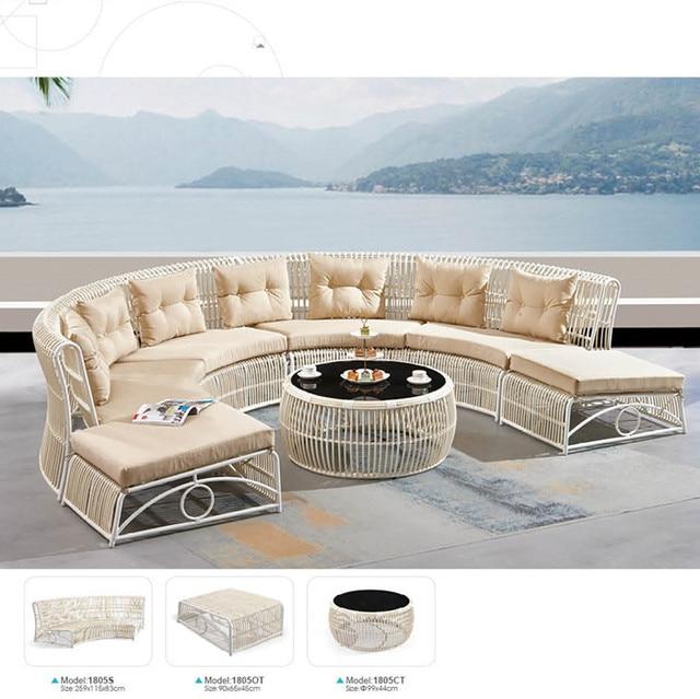 garten mobel sofa rattan ecke sofa set mit kissen abdeckungen