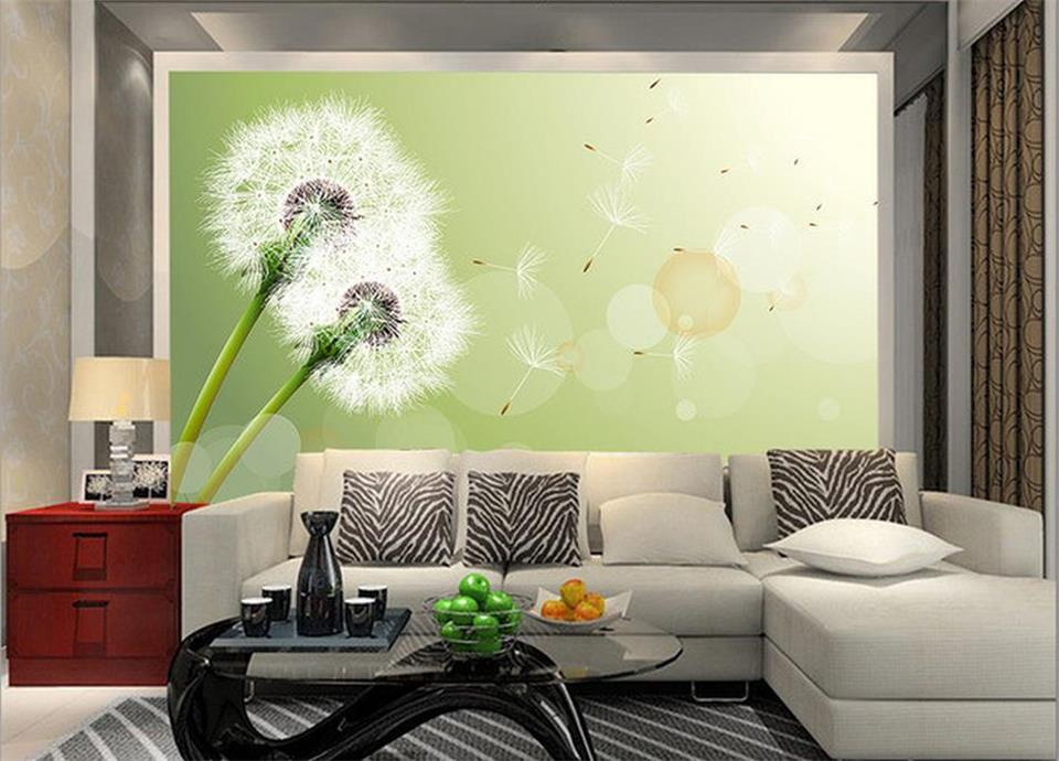 Custom 3d Photo Wallpaper 3d Wall Murals Wallpaper Hd: Custom Room Wallpaper Home Decor 3D Photo Mural Dandelion