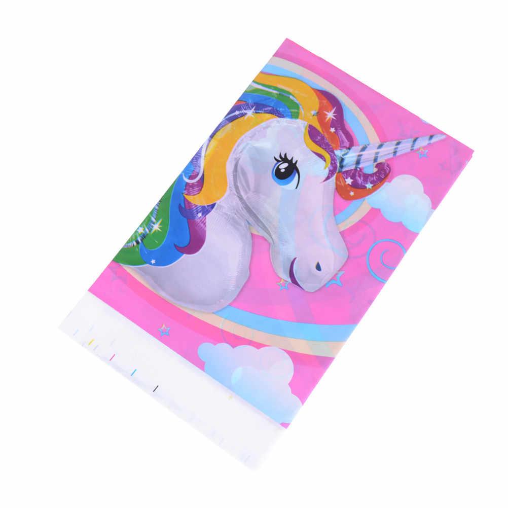 Обложка для стола Свадебные единороги лошадь одноразовые скатерти поставка мероприятий Дети День Рождения вечерние украшения 1 шт./партия