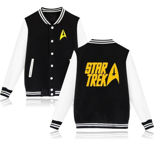 4 colores de las mujeres/de los hombres de invierno y auturm chaqueta chaqueta de las mujeres de star trek star trek star trek abrigo