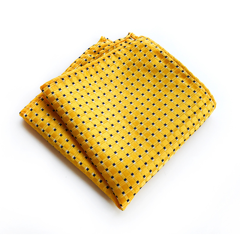 Classic Men's Clothing Accessorie Luxury Silk   Handkerchief Polka Dot Hanky  For Mens Wedding Business Party