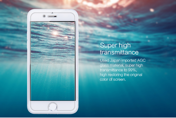 Nillkin Amazing H+ Pro glass screen protector film for Apple iPhone 7 add Qin series leather case with package
