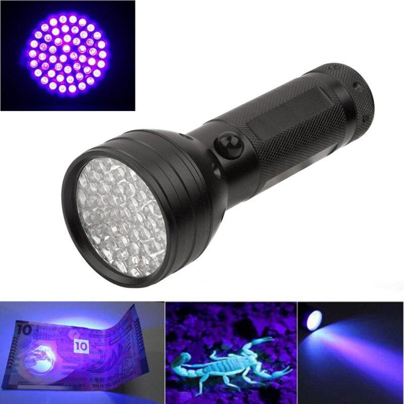B2 UV Ultra Led Light Violet 51 LED Flashlight Mini Blacklight Aluminum Torch Light Lamp Camping & Hiking Wholesales&Retails
