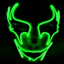 Glowing LED Halloween Masks Party Mask Decor Flashing Cosplay For Dance Festival Parties Costume