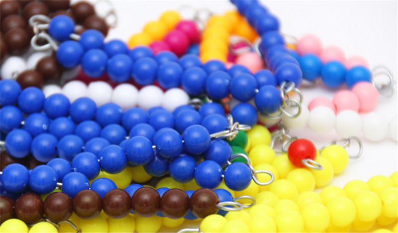 New  Baby Toy Montessori Colored Beads Chain Wood Early Childhood Education Preschool Training Learning Kids  Baby Gifts