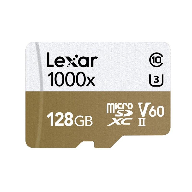 Image 2 - Оригинальный Lexar карты Micro SD карты 128 ГБ UHS II U3 Max 150 МБ/с. автомобиль TF карты флэш памяти класса 10 для беспилотная спортивная видеокамера-in Карты памяти from Компьютер и офис