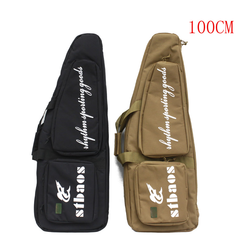 Tactical Military 100CM Heavy Duty Gun Bevel Carry Bag Rifle Case shoulder pouch Hunting Backpack 85cm 100cm 120cm tactical hunting backpack dual rifle square carry bag with shoulder strap gun protection case backpack