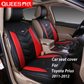 4 Цветов Крышка Сиденье Автомобиля специально для Toyota prius (2011-2012) искусственная кожа pu Стайлинга Автомобилей автомобильные аксессуары