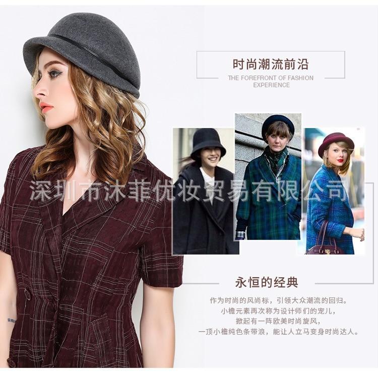 02b8b72815451 Otoño e Invierno mujer Color sólido sombrero octogonal señora fiesta moda  100% lana fieltro Newsboy gorras USD 15