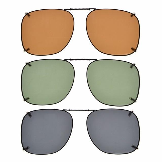 cd4b0ec582878 Eyekepper C66 Mix Gris Marrón G15 Lente 3 pack Clip on gafas de Sol ...