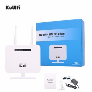 Unlocked 4G LTE CPE Wifi Router With LAN Port Support SIM Card Solt 300Mbps Portable Wireless Router With External Antennas